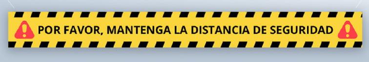vinilo adhesivo suelo distancia de seguridad-RM INGENIA